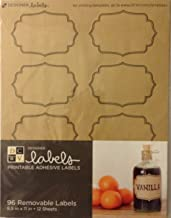 Die Cuts with A View Adhesive Label Extra-Kraft with Black Edge (96 pcs) ST-018-00011