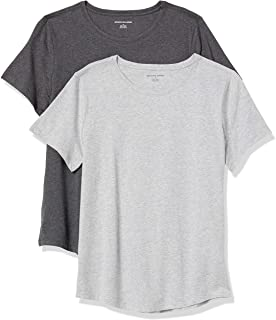 Women's 2-Pack Classic-Fit 100% Cotton Short-Sleeve Crewneck T-Shirt