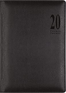 Lett's Milano Week to View 2020 Appointment Book, Black, 8.25 x 5.875 inches (CTO3XUBK-20)