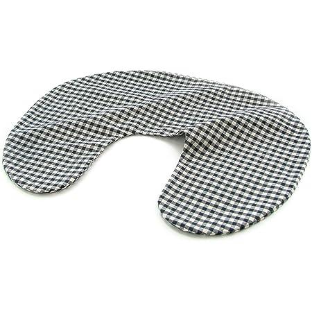 hugmamu® はぐまむ 日本製 洗える 授乳クッション (替えカバー ラージチェック ブラック)AU-189A-09-CL