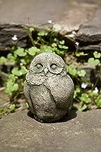 Campania International A-346-AL Baby Barn Owl Statue, Aged Limestone Finish