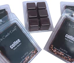 The Candle Daddy Coffee- Maximum Scent Wax Cubes/Melts- 5 Packs -10 Ounces Total- 30 Cubes