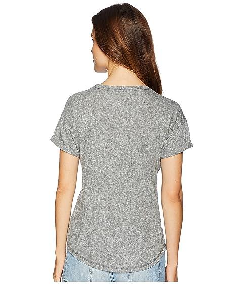Original California jaspeado camiseta Mock Retro manga Rolled Twist Twist The Mock corta Brand gris dtOzWTnwq