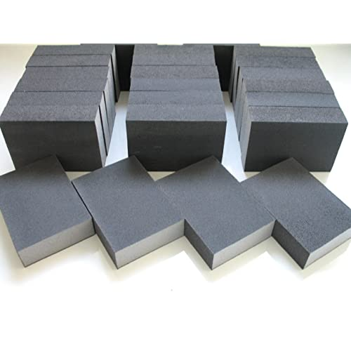 Wet Dry Silicon Sandpaper 2 Hand Held Mini Sanding Block Angled /& Curved Edge