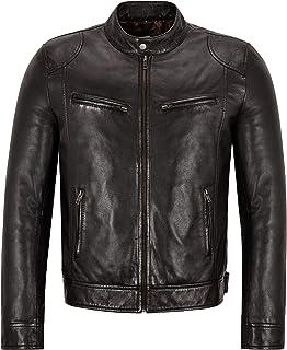 Men's Leather Jacket Chocolate Brown Lambskin Casual Wear Biker Style 3815