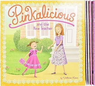 The Pinkalicious Take-Along Storybook Set: Tickled Pink, Pinkalicious and the Pink Drink, Flower Girl, Crazy Hair Day, Pin...