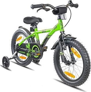 Prometheus Bicicleta Infantil | 16 Pulgadas | niño y niña | Verde Negro | A Partir