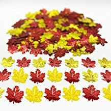 Thanksgiving Maple Leaves Confetti-Fall Autumn Party Leaf Confetti/Table Sequin Metallic Foil Scatter for Wedding Birthday...