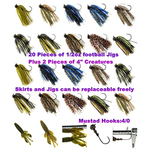"Preferred Plastics.1-20 ct Pack -soft plastics 1 1//2/""  JIG TRAILER FOR JIGS"