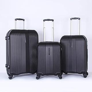 Titan Luggage Trolley Bags for Unisex, 3 Piece, BlackTT 010589 M
