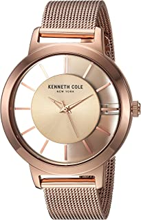 Kenneth Cole Women's Rose Gold Dial Stainless Steel Band Watch - KC15172002