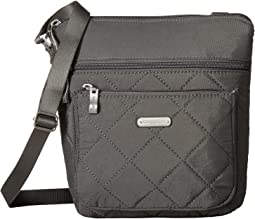 Quilted Pocket Crossbody with RFID Wristlet