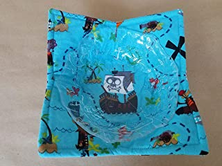 Pirate Treasure Map Microwave Bowl Cozy Children's Reversible Microwave Hot Soup Holder Kids Bowl Buddy Adventure Ship Whimsical Kitchen Linens Stocking Stuffers Christmas Gifts Under 10