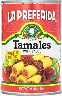 La Preferida Tamales Beef & Pork, 15-ounces (Pack of12)