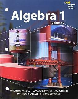 Interactive Student Edition Volume 2 2015 (Hmh Algebra 1)