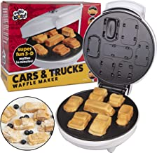 Car Mini Waffle Maker - Make 7 Fun, Different Race Cars, Trucks, and Automobile Vehicle Shaped Pancakes - Electric Non-Stick Pan Cake Waffler Iron