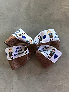 girl scout brownie hair bows
