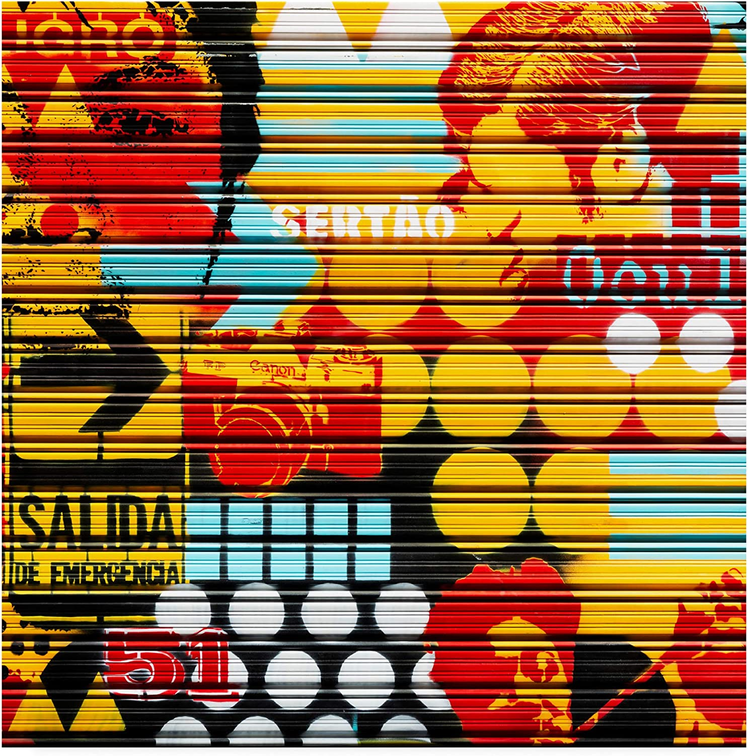 Trademark Fine Art PH01460-C1414GG Made in Spain 3 colorful Blind Art by Philippe Hugonnard, 14x14