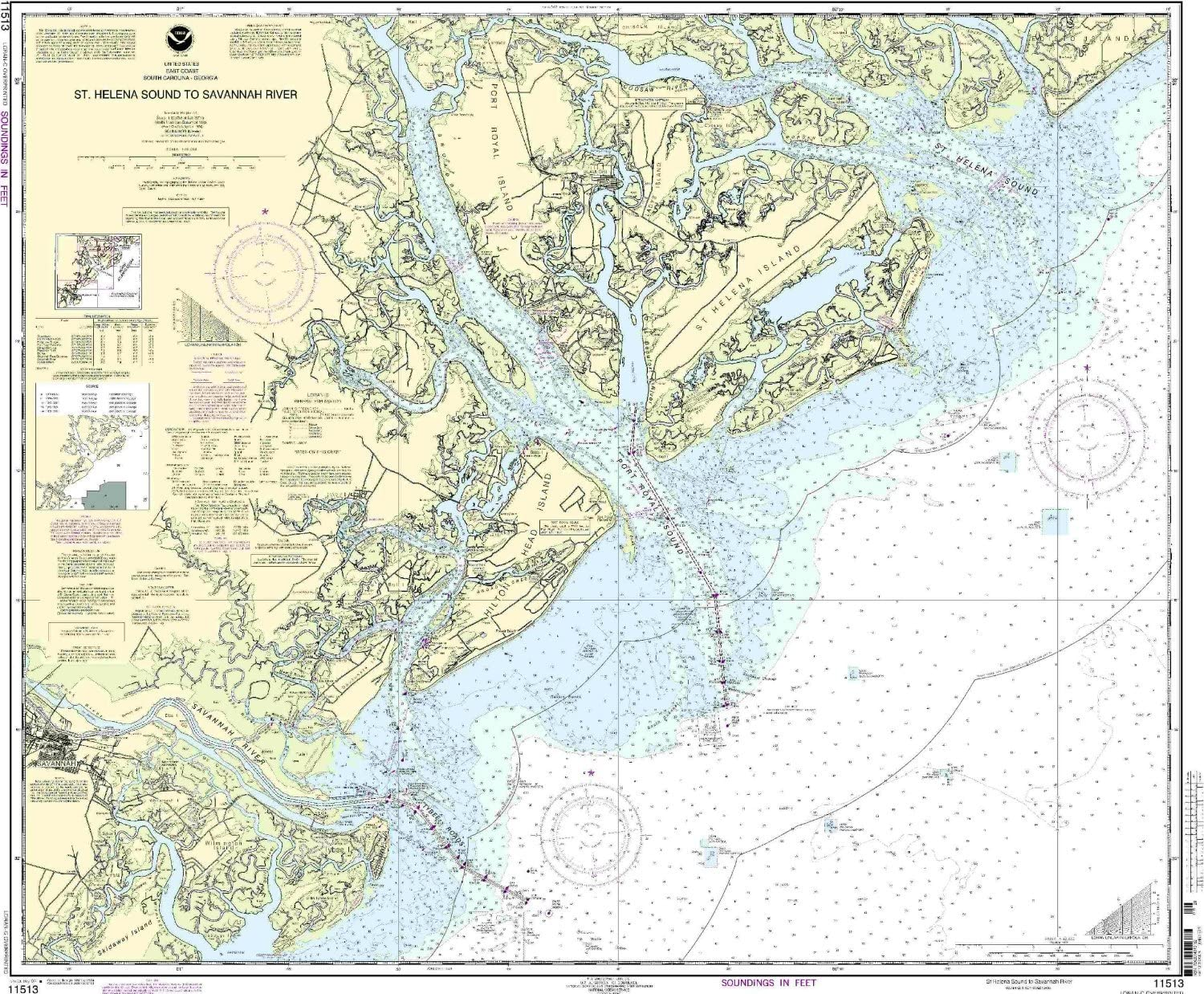 NOAA Ranking TOP2 11513-St. Helena Sound River Savannah All items free shipping to