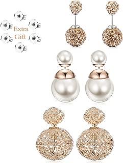 Best gold double ball stud earrings Reviews