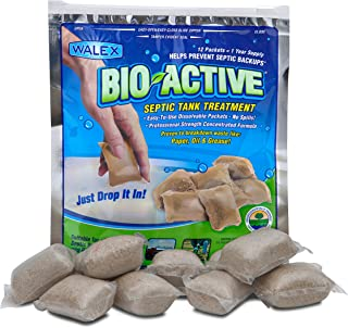 Walex BIO-31112 Bio-Active Drop-Ins Septic Additive, 12 Pack, 1 years supply
