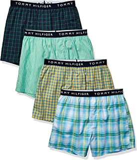 Men's Underwear Cotton 4 Pack Woven Boxers