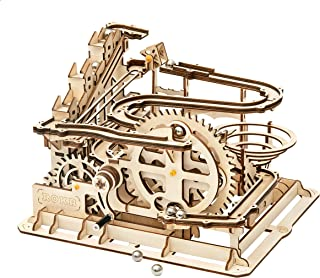 Rowood 3D Wooden Marble Run Puzzle Craft Toy, Gift for Adults & Teen Boys Girls, Age 14+, DIY Model Building Kits - Waterwheel Coaster