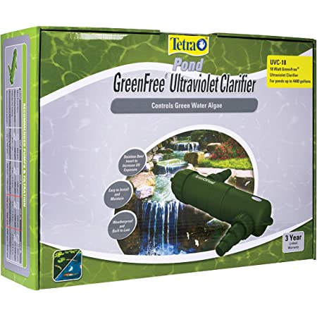 TetraPond GreenFree UV Clarifier for Clean Clear Ponds