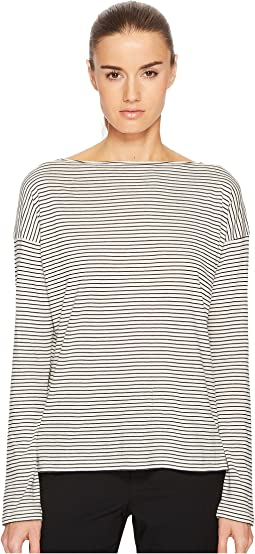 Vince - Pencil Stripe Long Sleeve Boat Neck
