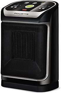 Rowenta SO9276 Silent Comfort Electronic Ceramic Heater with Eco-Mode, 215-Square Ft, Black