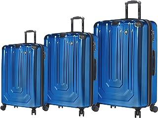مجموعة حقائب السفر الدوارة الملمع ألومينيو من Mia Toro Italy 3 قطع - أزرق