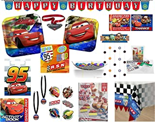 Disney Cars Party Supply Mega Bundle For 8 Guests - Includes Paper Goods, Favors, Games, Invitations and More