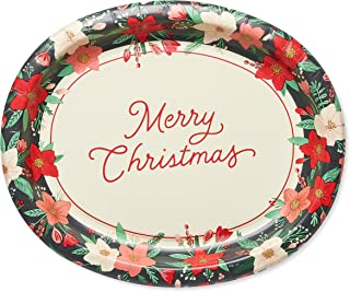 American Greetings Christmas Platter, Winter Floral (36-Count)