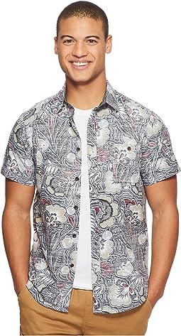VISSLA Mongos Short Sleeve Printed Woven Top