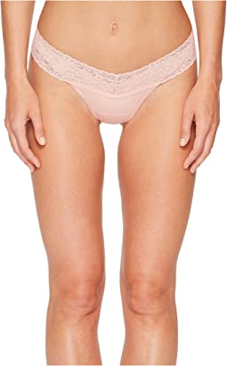 Organic Cotton Low Rise Thong w/ Lace