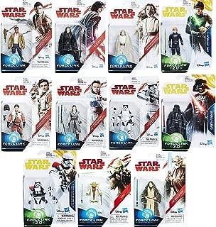Star Wars: The Last Jedi 3 3/4-Inch Force Link 1.0 & 2.0 Action Figures Set of 11 (Darth Vader, Jedi Luke, Yoda, OBI Wan, First Order, Rey, Finn, Poe, Kylo Ren, Stormtrooper)