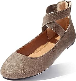 Ballet Flat Shoes Women Women's Classic Ballerina Slip On Flats Elastic Crossing Straps