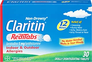 CLARITIN 12 Hour Reditabs 5 mg Orally Disintegrating Tablets 30 Tablets (Pack of 2)