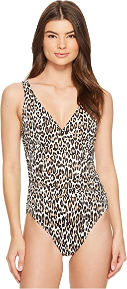 Tommy Bahama Cat's Meow Underwire OTS Wrap One-Piece