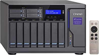 QNAP 12 Bay NAS/iSCSI IP-SAN, Intel Skylake Core i3-6100 3.7 GHz Dual core, 8GB RAM (TVS-1282-i3-8G-US)