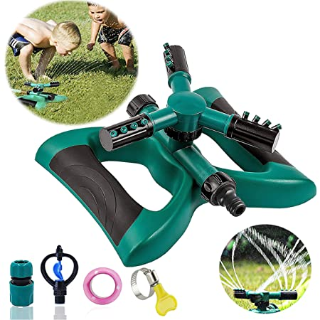 Awakingdemi Lawn Sprinkler,5-100pcs 360 Degree Home Garden Plant Lawn Watering Dripper Sprayer Spike 10pcs