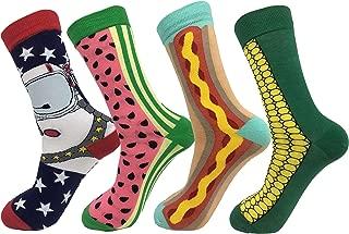 Creative Mah Jong Print Novelty Cotton Crew Socks 3 Pairs for Men Women