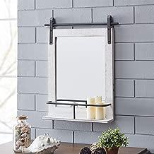 FirsTime & Co. Ivywood Barn Door Shelf Wall Mirror, 25