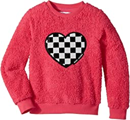 Little Marc Jacobs - Soft Faux Fur Heart Illustration Long Sleeve Sweatshirt (Little Kids/Big Kids)