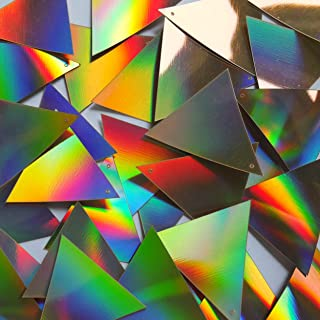 Sequin Triangle 40mm Gold Lazersheen Reflective Metallic. Made in USA