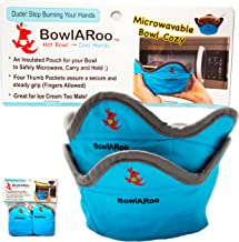 2- Pack Microwavable Heat Resistant Bowl Cozy Holder, Insulated Pouch to Microwave Your Food and Stop Burning Yours Hands - Machine Washable - The Original BowlARoo