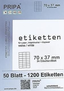 100 fogli formato A4 di etichette autoadesive 105 x 74 mm ciascun foglio comprende 8 etichette = 2 colonne di 4 righe pripa