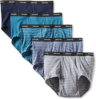 Men's Big Stripe Solid Briefs (Pack of Five)
