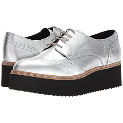 Shellys London Tommy Platform Oxford (Silver) Women