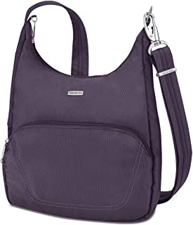 Travelon Anti-Theft Classic Essential Messenger Bag, Purple (Purple) - 42457 150